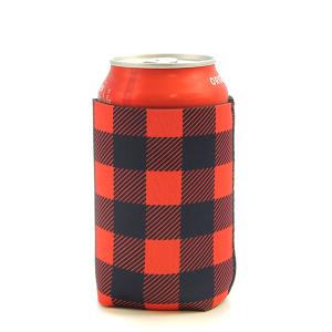 Drink Sleeve 042 12 Tipi buffalo plaid red