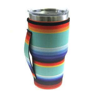 Tumbler Sleeve 037a 12 Tipi serape stripe multicolor