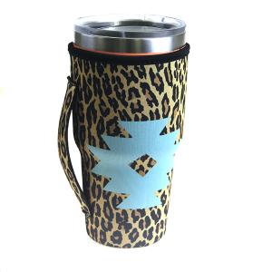 Tumbler Sleeve 048a 12 Tipi geometric leopard