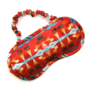 Sleep Mask 002 Geometric Red