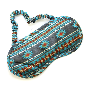 Sleep Mask 005 Geometric Teal Turquoise