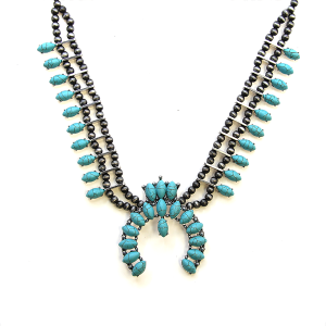 Necklace 1296a 12 Tipi navajo stone necklace turquoise
