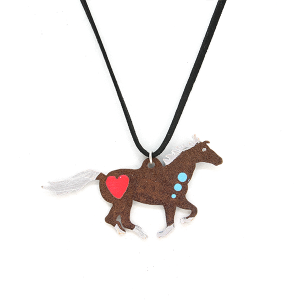 Necklace 201 12 tipi string rustic necklace running horse