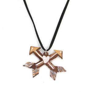 Necklace 425 12 tipi string rustic necklace arrows