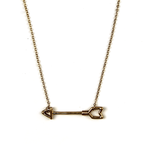 Necklace 281 12 Tipi wire arrow necklace gold