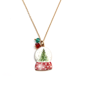 Christmas Necklace 223 12 Tipi christmas snow globe