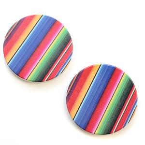Car Coaster 030 Serape Stripes Multicolor