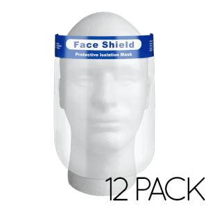 12 Pack Elastic Plastic Face Shield
