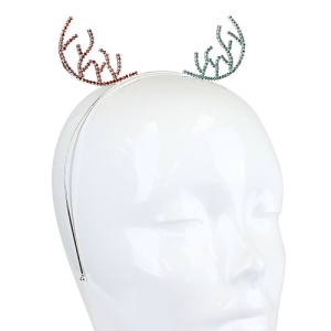 christmas hair 003d 16 hairband antlers crystal multi