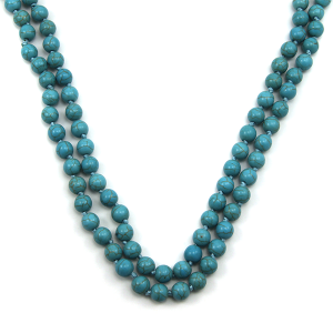 Necklace 249b 16 Crystal Avenue turquoise stone bead necklace 30 60 inch