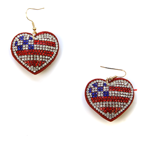 Earring 1889d 16 Crystal Avenue America USA earrings heart rhinestone