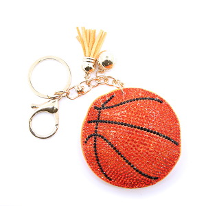 Keychain 002b 16 Crystal Avenue Sequin basketball tassel