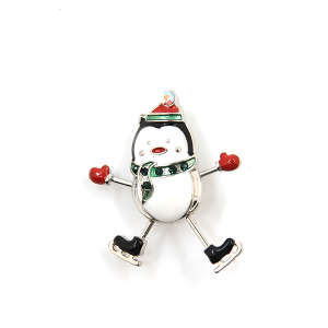 Christmas Pin 006a 16 Crystal Avenue snowman ice skate