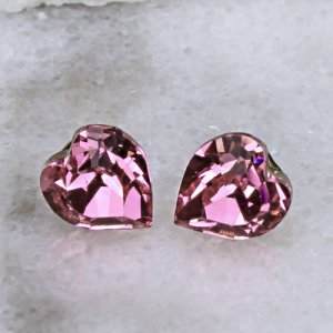 crystal earring 069f 16 Crystal Avenue heart pink