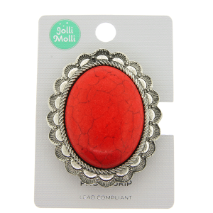Phone Grip 047b 17 Jolli Molli oval stone red