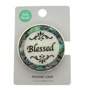 Phone Grip 037a 17 Jolli Molli round opal blessed