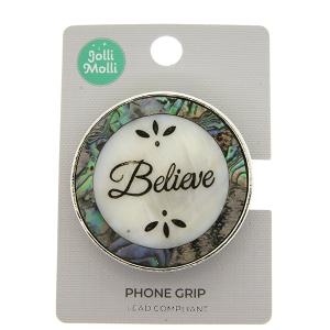 Phone Grip 030c 17 Jolli Molli round opal believe