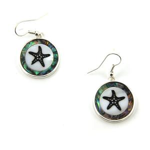 Earring 3452 17 Jolli Molli abalone earrings starfish