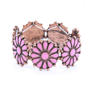 Bracelet 840 18 Treasure concho floral copper pink