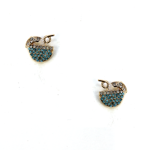Earring 2663f 18 Treasure cocktail earrings rhinestone blue