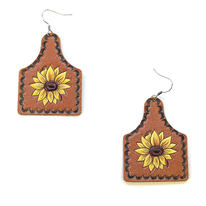Earring 077b 18 Treasure sunflower earrings