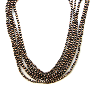 Necklace 773a 18 Treasure multi layer bead necklace copper