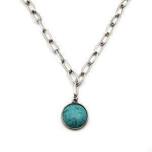 Necklace 158 18 Treasure navajo stone chain necklace turquoise