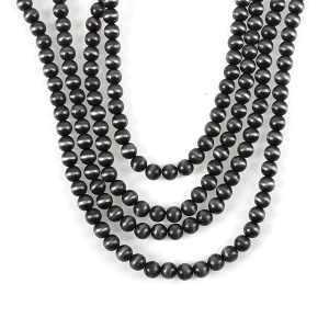 Necklace 932 18 Treasure large layered bead necklace gray
