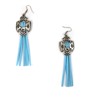 Earring 1332c 12 Tipi navajo tassel earrings turquoise