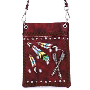 CS 2030W123 Crossbody bag western arrow feather red