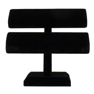 display 018 2 tier velvet bracelet display black