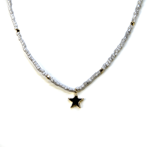 Necklace 335a 21 Dorothy bead choker necklace star gray