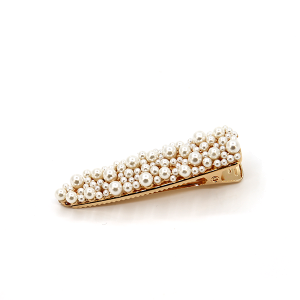 Hair clip 224A 91 Narrow shape hair clip with pearls