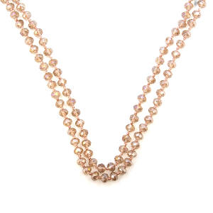 Necklace 1405a 22 No. 3 30-60 inch bead necklace clear beige AB