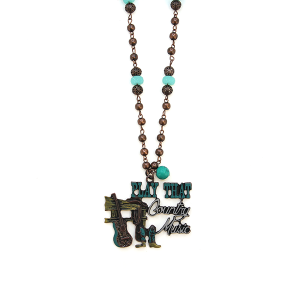 Neckalce 2013 22 No. 3 bead play that country music necklace patina