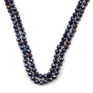 Necklace 866d 30 60 inch bead necklace indigo