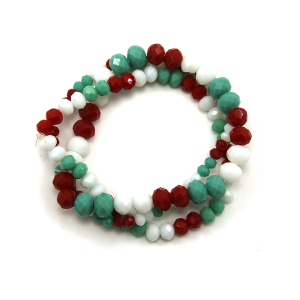 Bracelet 552b 22 No. 3 bead bracelet 3 stack mc1
