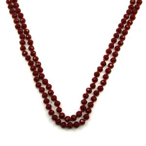 Necklace 876a 22 No. 3 30 60 inch bead necklace dark red 1drd