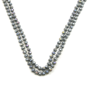 Necklace 846a 22 No. 3 30 60 inch bead necklace gray 1gy