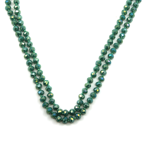 Necklace 852d 22 No. 3 30 60 inch bead necklace green 1mn
