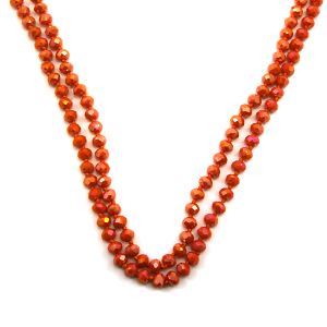 Necklace 800c 22 No. 3 30 60 inch bead necklace orange 1or