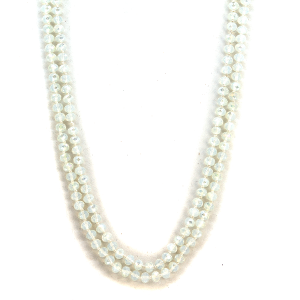 Necklace 1482a 22 No. 3 30-60 inch bead necklace ivory clear ab 325
