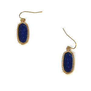 Earring 725a 22 No. 3 raw druzy earrings blue