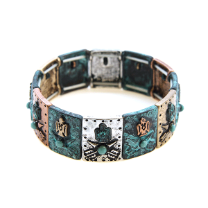 Bracelet 117 24 Story By Davinci arrow head eagle patina