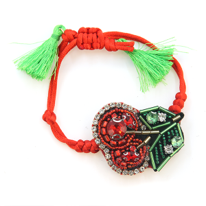 Bracelet 809b 24 Story By Davinci cherry art string bracelet