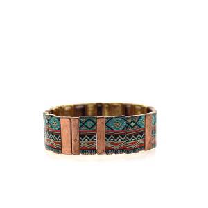 Bracelet 899g 24 Story By Davinci block aztec multi rose gold