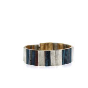Bracelet 897 24 Story By Davinci block patina multi silver