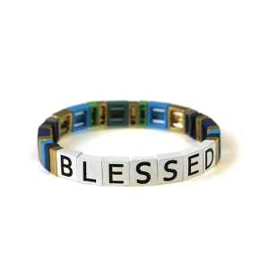 Bracelet 211c 24 Wildflower stretch BLESSED bracelet multicolor bl