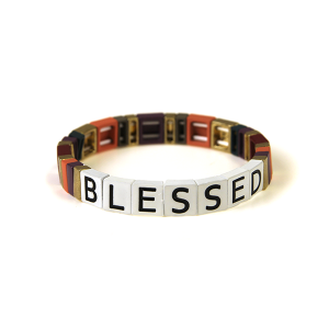Bracelet 221a 24 Wildflower stretch BLESSED bracelet multicolor pk