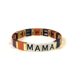 Bracelet 194 24 Wildflower stretch MAMA bracelet mom multicolor bu